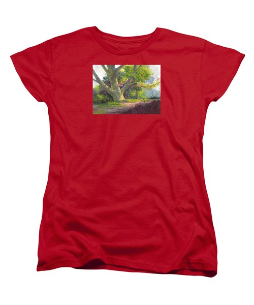 Women's T-Shirt (Standard Cut) featuring the painting Shady Oasis by Michael Humphries
