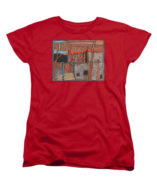 Shaky Place Women's T-Shirt (Standard Cut) by Sandra Church