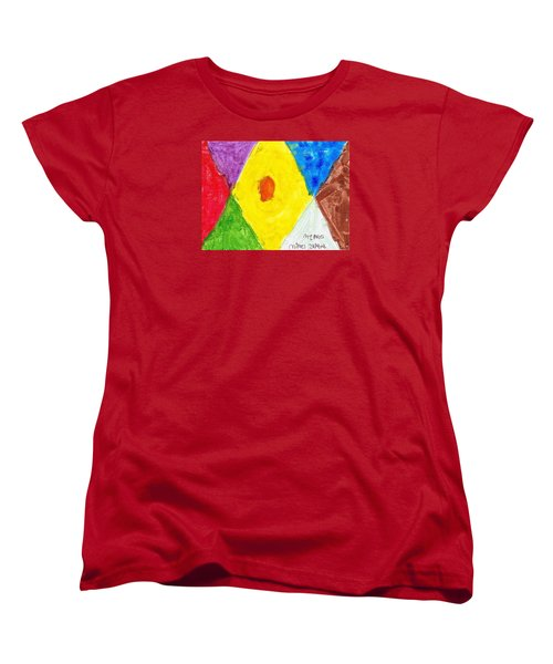 Women's T-Shirt (Standard Cut) featuring the painting Shapes by Artists With Autism Inc