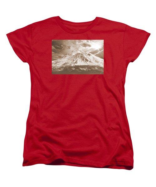 Women's T-Shirt (Standard Cut) featuring the photograph Shasta Mt by Athala Carole Bruckner