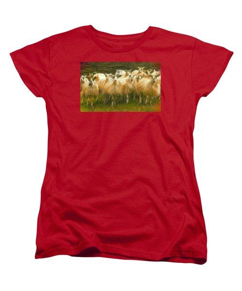 Sheep At Hadrian's Wall Women's T-Shirt (Standard Cut) by Caito Junqueira