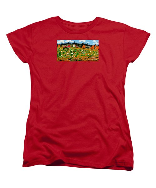 Sheep Farm Women's T-Shirt (Standard Cut) by Jeffrey Koss