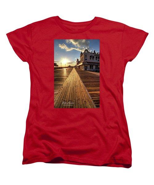 Shining Walkway Women's T-Shirt (Standard Cut) by John Loreaux