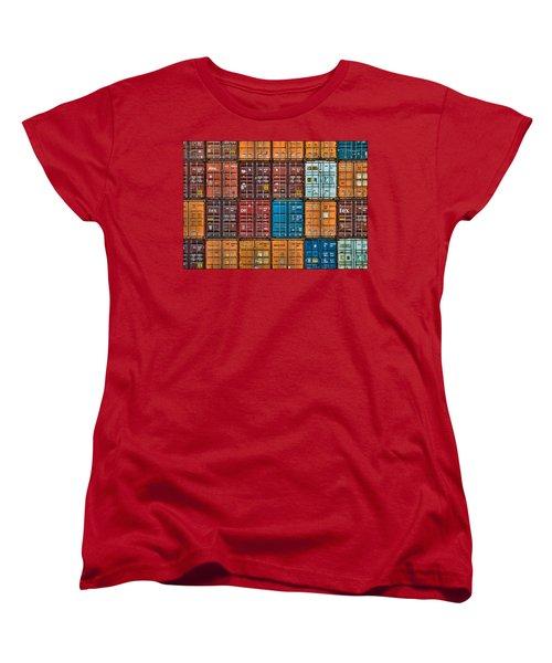 Shipping Containers Women's T-Shirt (Standard Cut)
