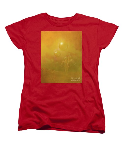 Women's T-Shirt (Standard Cut) featuring the painting Shipwrecked Lovers by Alexa Szlavics