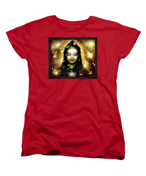 Shiva In Golden Space  Women's T-Shirt (Standard Cut) by Ananda Vdovic
