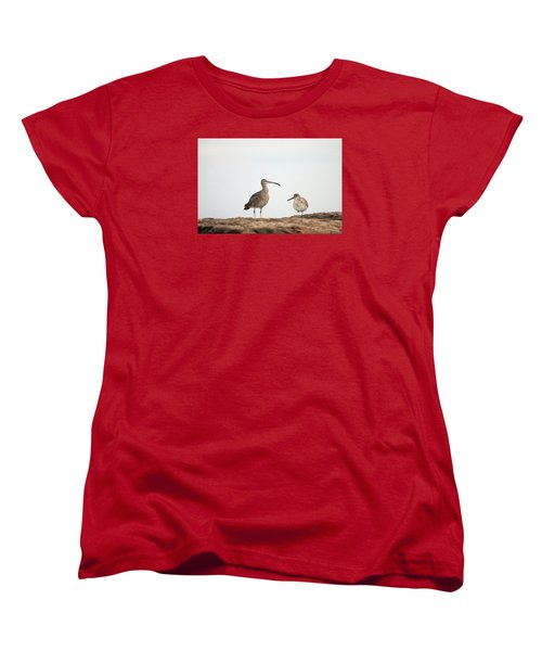 Shorebirds Of Windansea Beach Women's T-Shirt (Standard Cut) by Bruce Patrick Smith