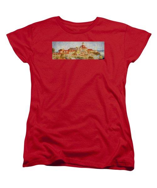 Shoreline Village Women's T-Shirt (Standard Cut) by Joseph Hollingsworth