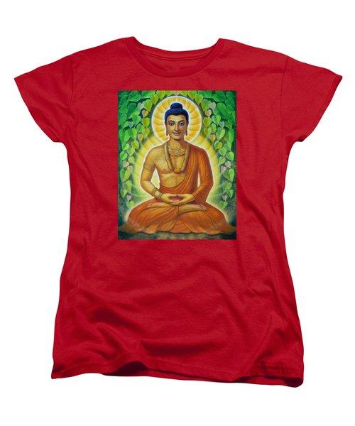 Women's T-Shirt (Standard Cut) featuring the painting Siddhartha by Sue Halstenberg