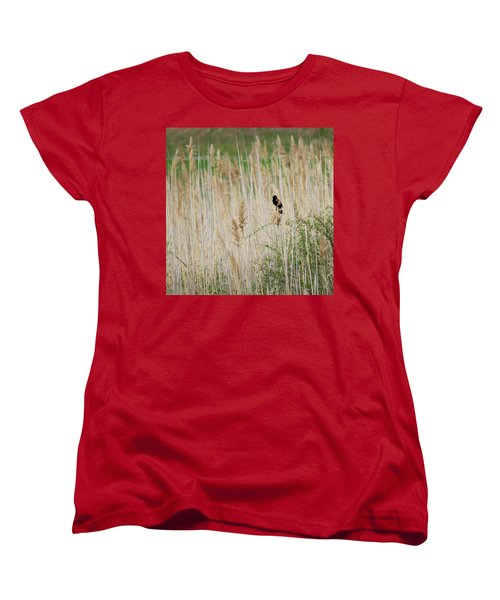 Women's T-Shirt (Standard Cut) featuring the photograph Sing For Spring Square by Bill Wakeley