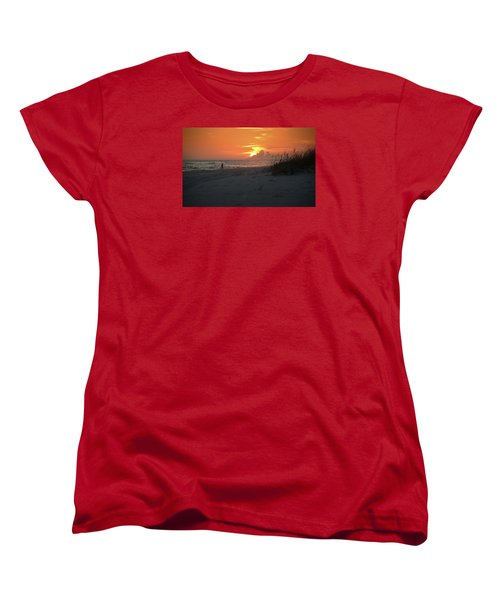 Women's T-Shirt (Standard Cut) featuring the photograph Sinking Into The Horizon by Renee Hardison
