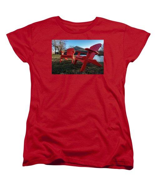 Sitting By The Lake Women's T-Shirt (Standard Cut) by Steve Hurt