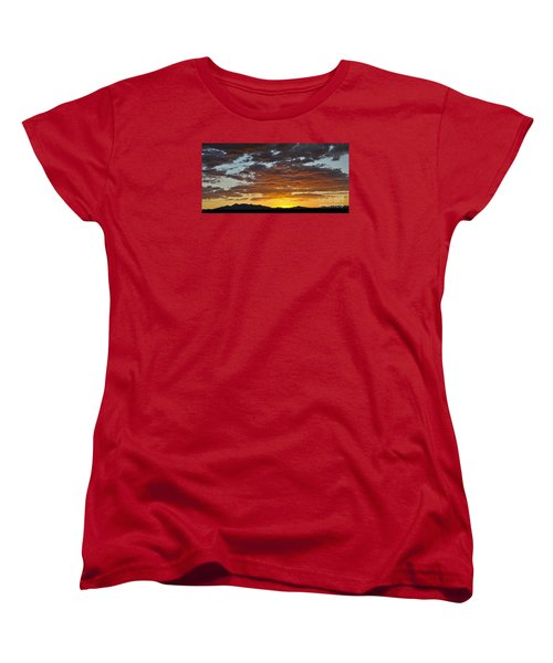 Skies Of Gold Women's T-Shirt (Standard Cut) by Gina Savage