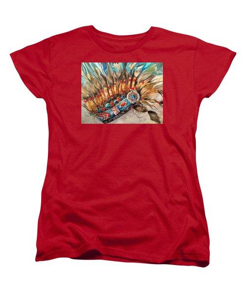 Sky Feather Detail Women's T-Shirt (Standard Cut) by Heather Roddy