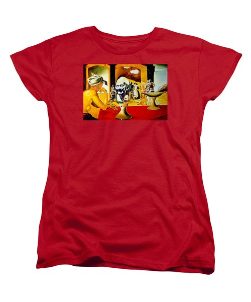 Women's T-Shirt (Standard Cut) featuring the painting Slave Market With The Invisible Bust Of Voltaire by Henryk Gorecki