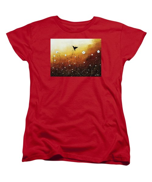 Women's T-Shirt (Standard Cut) featuring the painting Small Treasure by Carmen Guedez