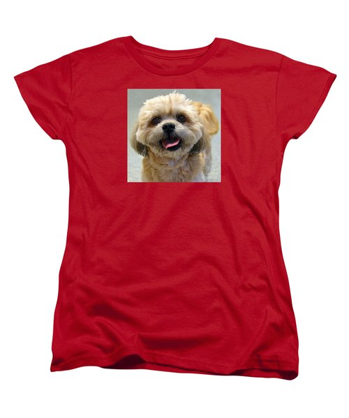 Smiling Shih Tzu Dog Women's T-Shirt (Standard Cut)