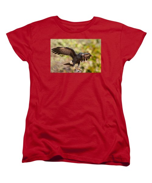 Snail Kite With Crab In Pantanal Women's T-Shirt (Standard Cut) by Aivar Mikko