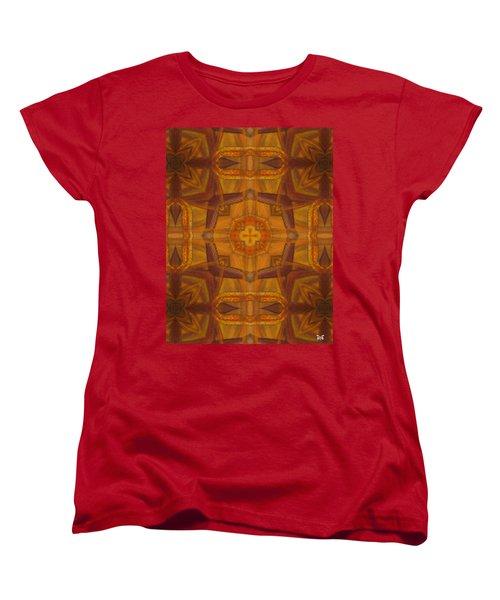 Snake Cross Women's T-Shirt (Standard Cut) by Maria Watt