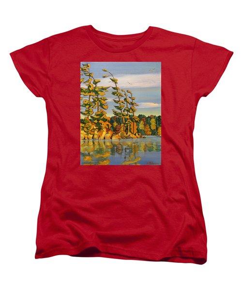 Snake Island In Fall Sunset Women's T-Shirt (Standard Cut)