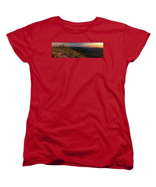 Women's T-Shirt (Standard Cut) featuring the photograph Snow Camp Lookout by Leland D Howard