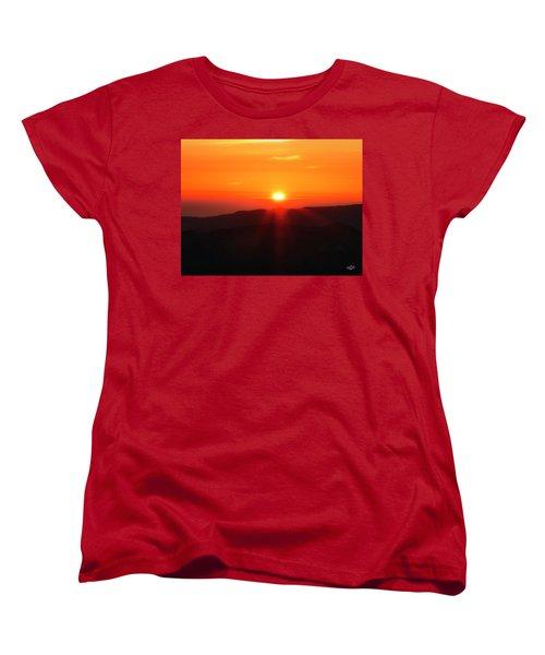 Women's T-Shirt (Standard Cut) featuring the photograph Snow Camp View 2 by Leland D Howard