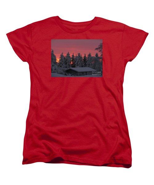 Snowed In Women's T-Shirt (Standard Cut) by Rod Jellison