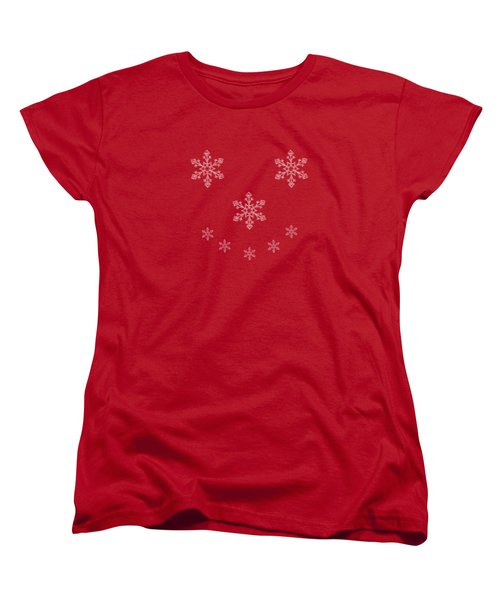 Snowflake Smile Women's T-Shirt (Standard Cut) by Linsey Williams
