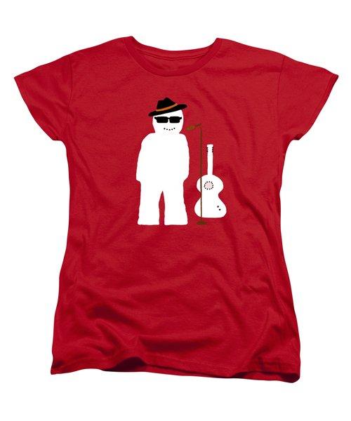 Snowman Musician Women's T-Shirt (Standard Cut) by Barbara Moignard