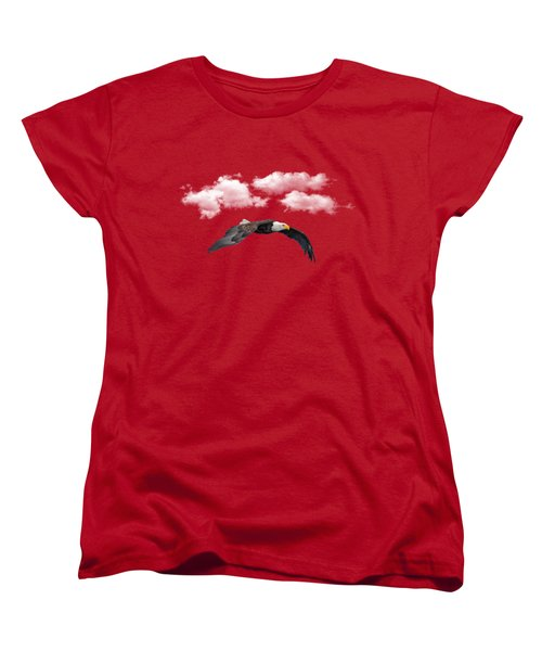 Women's T-Shirt (Standard Cut) featuring the photograph Soaring Among The Clouds by David Dehner