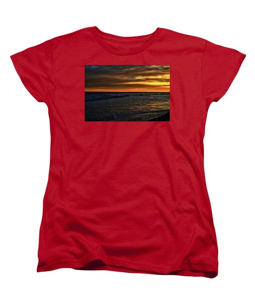 Women's T-Shirt (Standard Cut) featuring the photograph Soaring In The Sunset by Kelly Reber