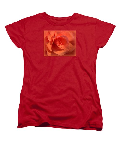 Soft Begonia Women's T-Shirt (Standard Cut) by AJ  Schibig