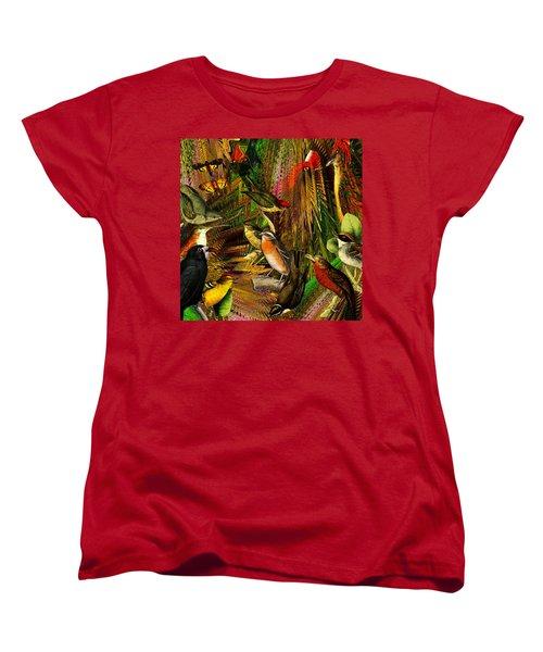 Solar Birds Of Paris Women's T-Shirt (Standard Cut) by Joseph Mosley
