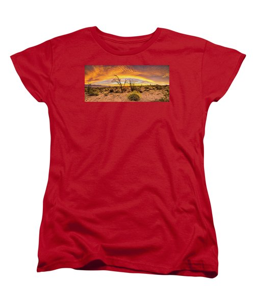 Women's T-Shirt (Standard Cut) featuring the photograph Somewhere Over by Peter Tellone