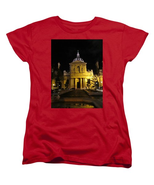 Women's T-Shirt (Standard Cut) featuring the photograph Sorbonne Night by Christopher Kirby
