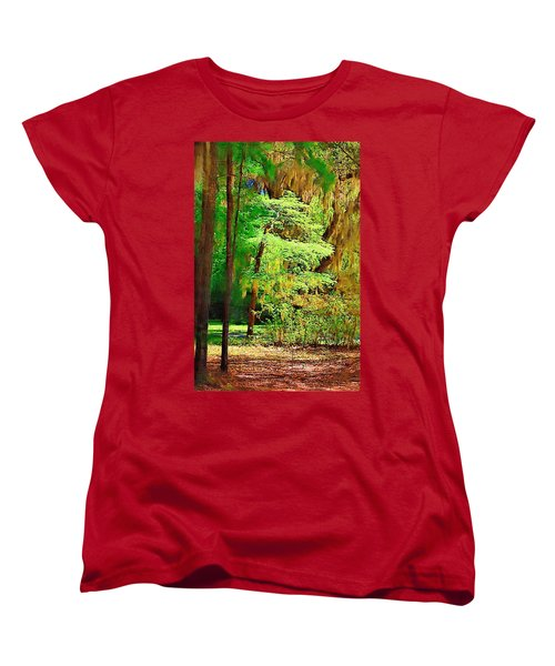 Women's T-Shirt (Standard Cut) featuring the photograph Southern Forest by Donna Bentley