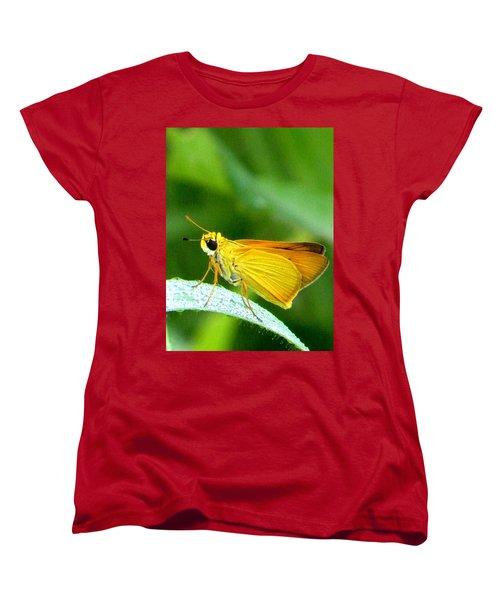 Southern Skipperling Butterfly 001  Women's T-Shirt (Standard Cut) by Chris Mercer