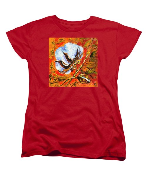 Women's T-Shirt (Standard Cut) featuring the painting Southern Snow by Dianne Parks