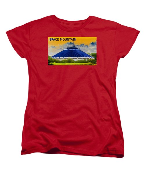 Space Mountain Women's T-Shirt (Standard Cut) by David Lee Thompson