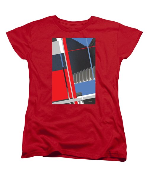 Women's T-Shirt (Standard Cut) featuring the mixed media Spaceframe 2 by Andrew Drozdowicz