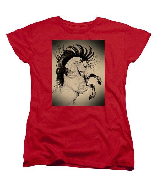 Spanish Horses Women's T-Shirt (Standard Cut) by Cheryl Poland
