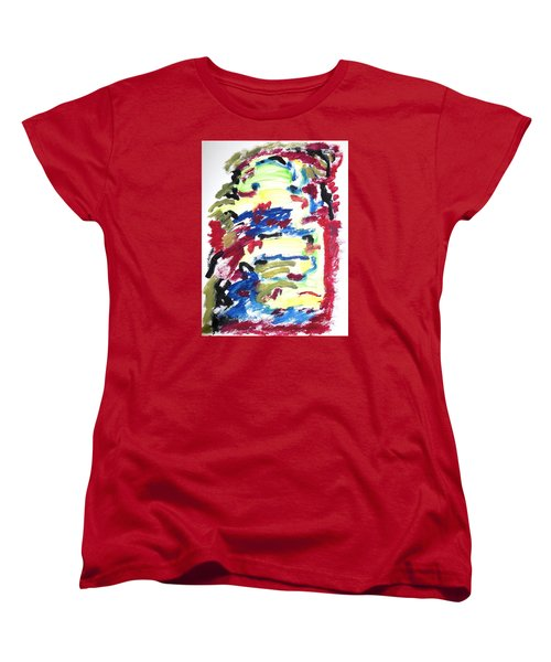Women's T-Shirt (Standard Cut) featuring the painting Spatial Outwardness by Esther Newman-Cohen