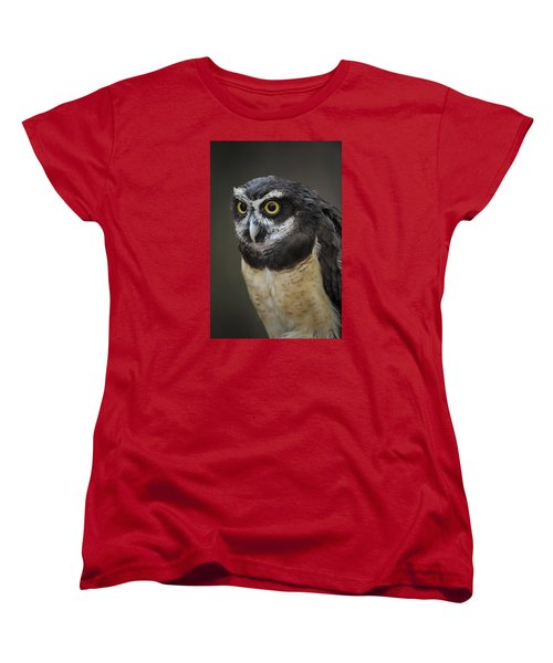 Women's T-Shirt (Standard Cut) featuring the photograph Spectacled Owl by Tyson and Kathy Smith