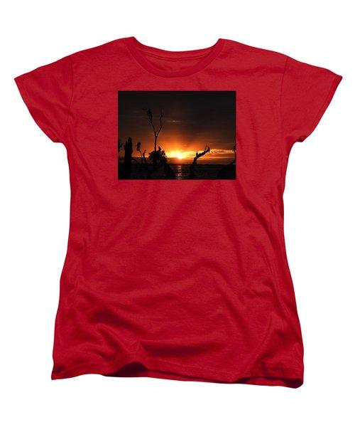 Women's T-Shirt (Standard Cut) featuring the photograph Spectacular Sunset by Betty-Anne McDonald