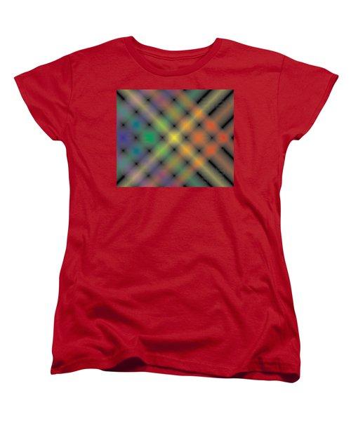 Spectral Shimmer Weave Women's T-Shirt (Standard Cut) by Kevin McLaughlin
