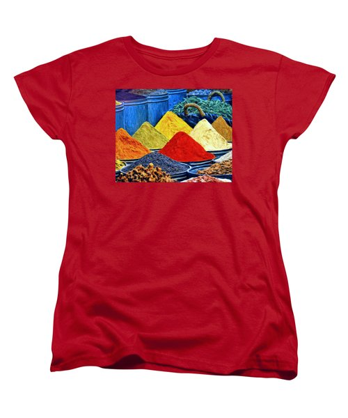 Spice Market In Casablanca Women's T-Shirt (Standard Cut) by Dominic Piperata