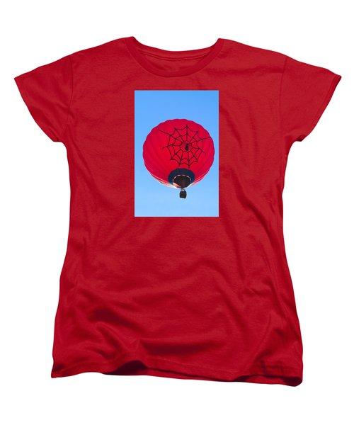 Women's T-Shirt (Standard Cut) featuring the photograph Spiderballoon by Brenda Pressnall