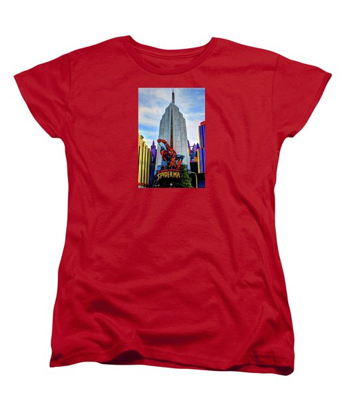 Women's T-Shirt (Standard Cut) featuring the photograph Spiderman by Tom Prendergast