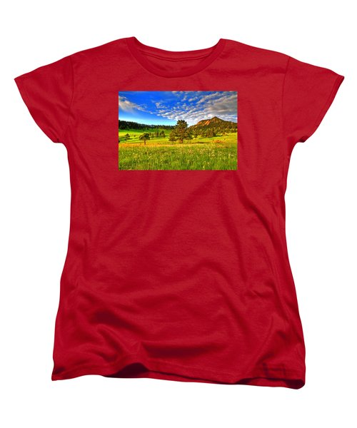 Spiritual Sky Women's T-Shirt (Standard Cut) by Scott Mahon