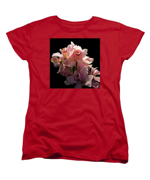 Spray Of Pink Orchids Women's T-Shirt (Standard Cut) by Merton Allen